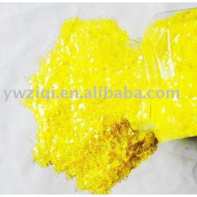yellow color PET flakes for the party decoration