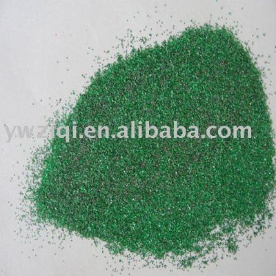 green aluminum plastics glitter powder
