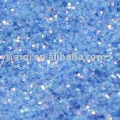 blue holographic laser glitter powder