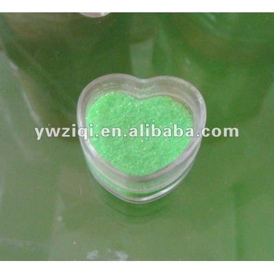 Rainbow green color glitter powder