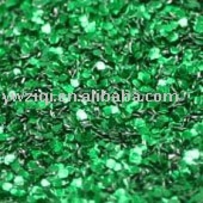 Hologram green hexagon glitter powder