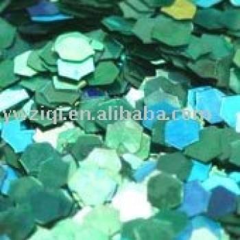 green hologram colour glitter powder for wedding crafts decoration