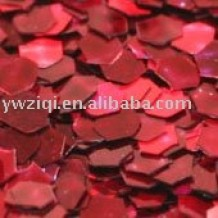 Holographic red glitter powder for crafts