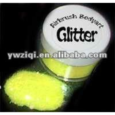 blue shinning rainbow embossing glitter powder for DIY