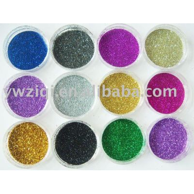 metallic color glitter powder for painting
