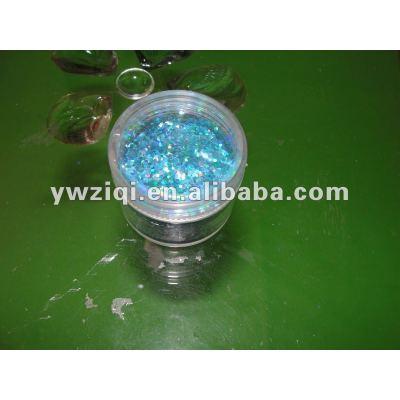 rainbow colour glitter powder for Christmas decoration
