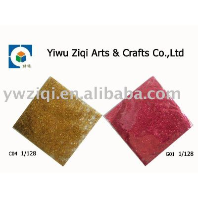 Fine varies colors glitter powder in small bag