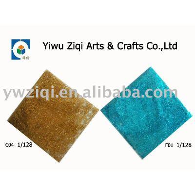 High temperature glitter powder in greeting card decoration