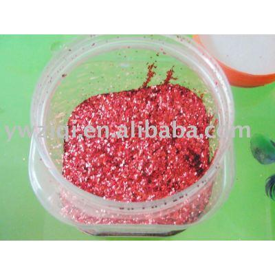 High temperature hexagon laser color Glitter powder for textile