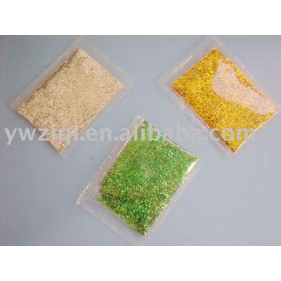 Glitter powder using in festival decorations