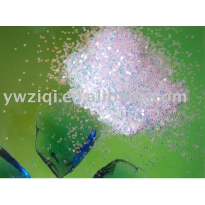 White rainbow color glitter powder for greeting cards
