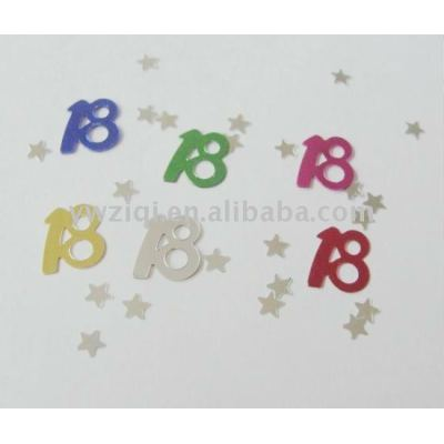 PVC material number paillette for anniversary celebration