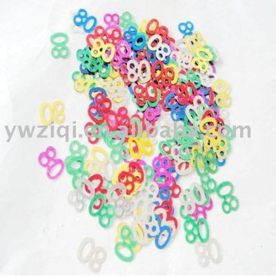 PVC material number confetti for anniversary decoration