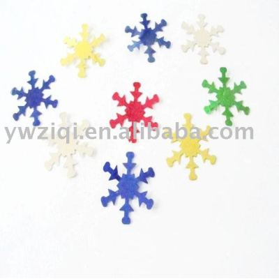 Metallic color pvc material snow paillette