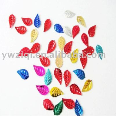 metallic color PVC confetti for party decoration