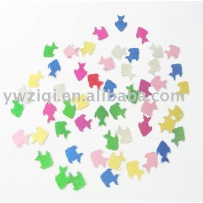 Metallic color fish shape PVC confetti for party decoration