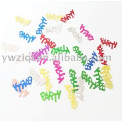 metallic color pvc party confetti