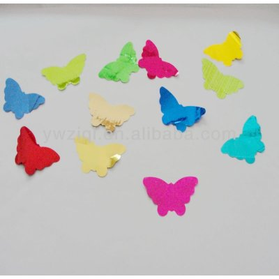 PET material butterfly for wedding decoration paillette