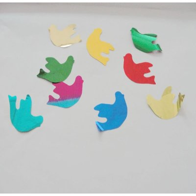 PET bird decoration confetti