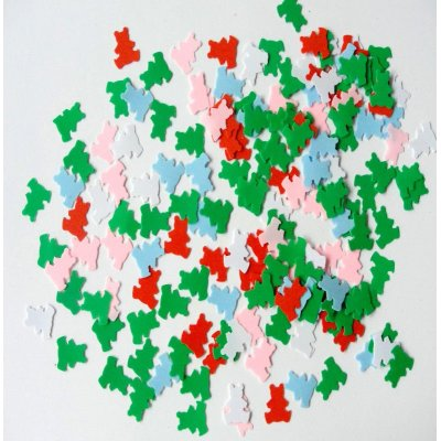 paste colorful teddy bear party confetti