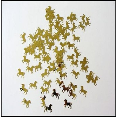 horse shape party table confetti