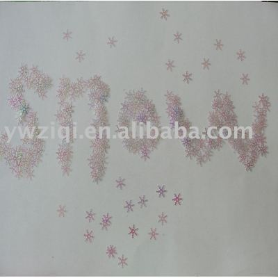 PVC snow shape table confetti