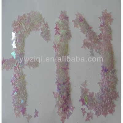 artificial PET butterfly confetti for wedding decoration
