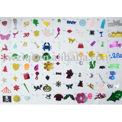 Different PVC confetti for party celebration