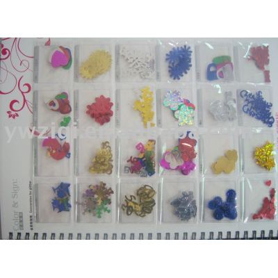 Varies of Confetti used for gift accessory