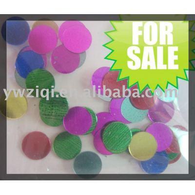 PVC round sequins, confetti, paillettes