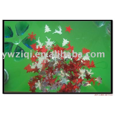 PVC glitter table confetti for Christmas decoration