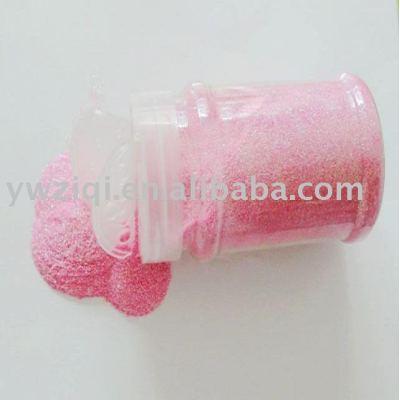 hexagon rainbow color shape PET glitter powder