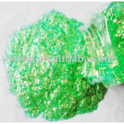 Iridescence glitter flakes for DIY decoration