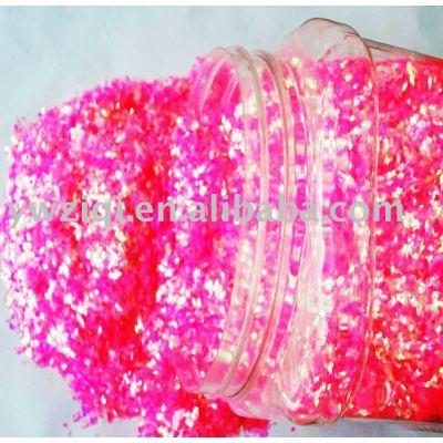 Rainbow color PET glitter powder flakes