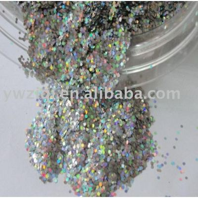 Holographic silver color glitter powder for decoration