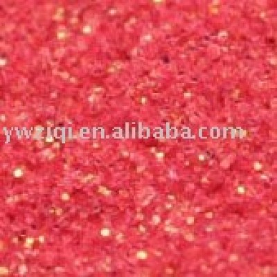red iridescent glitter powder