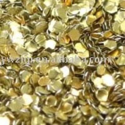 Holographic gold glitter powder