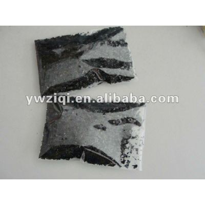 Fine black color glitter fiber for Children DIY paint