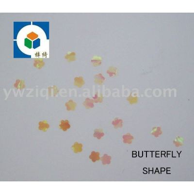 PET peach blossom shape confetti for nail art