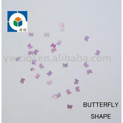 Voilet butterfly PET nail art confetti