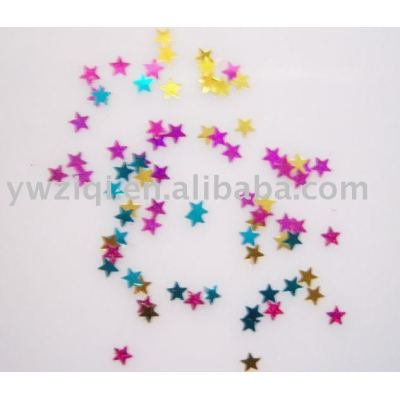 Star table confetti for Christmas decoration