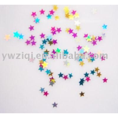Colorful Decorative Glitter Star Flake