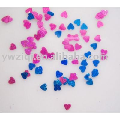 Heart table confetti for Christmas decoration