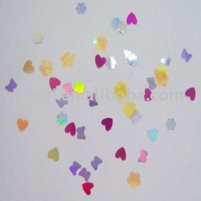 PET Decorative Heart Shape Confetti for nail art