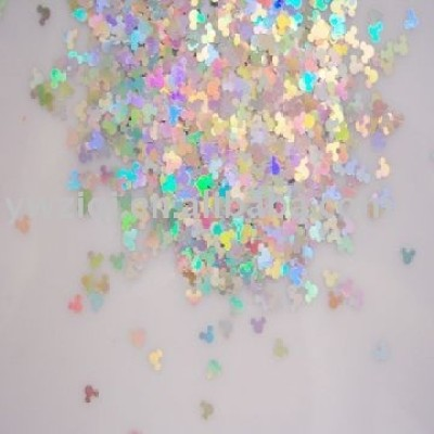 PET holographic colors flake confetti for nail art