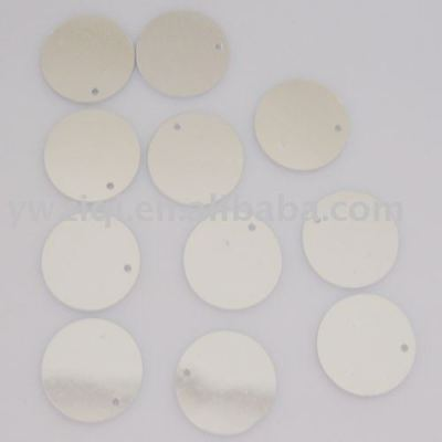 PET round shaped confetti for garment decoration