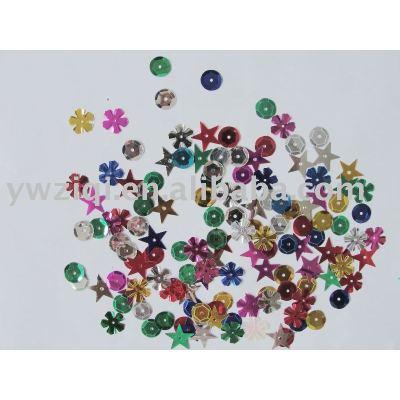 metallic color PVC party series table confetti