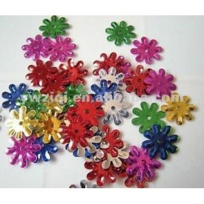 PVC Flower shape sequins for garments decoration