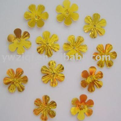 laser glitter flower shaped confetti