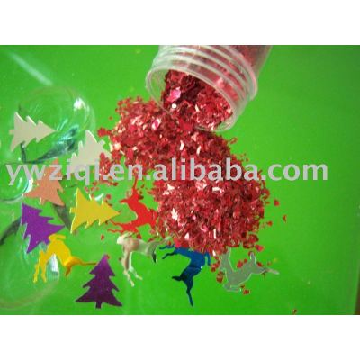 Glitter glass fragment for New year decoration